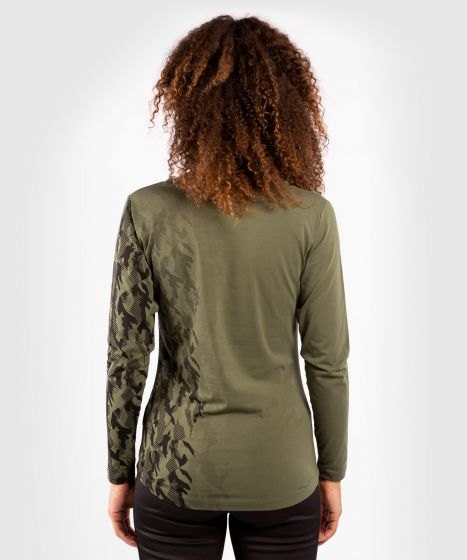 T-shirt Manches Longues Femme UFC Venum Authentic Fight Week - Kaki