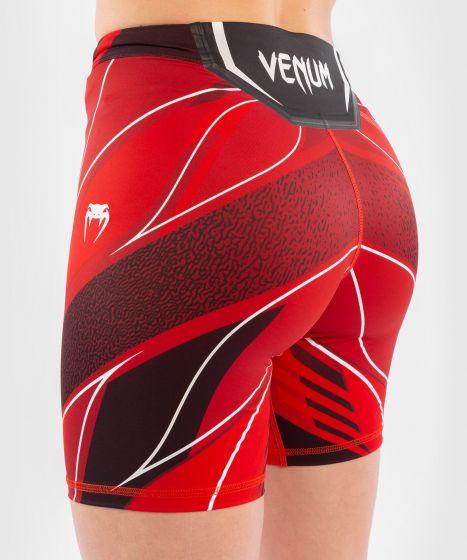 UFC Venum Authentic Fight Night Women's Vale Tudo Shorts - Long Fit - Red