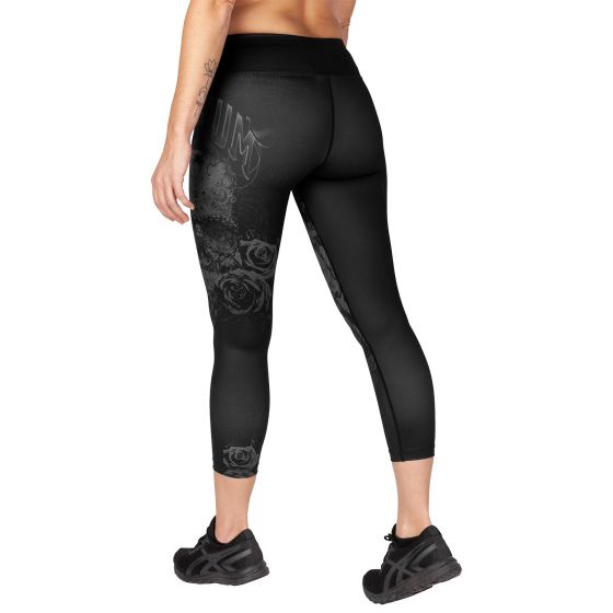 Venum Santa Muerte 3.0 Leggings Crops - For Women - Black/Black