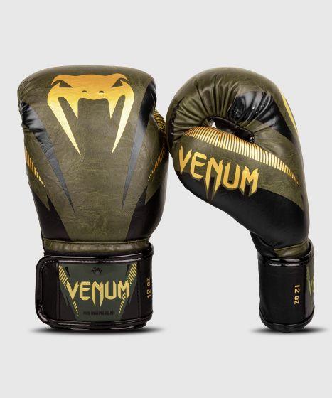 Venum Impact Boxing Gloves - Khaki/Gold
