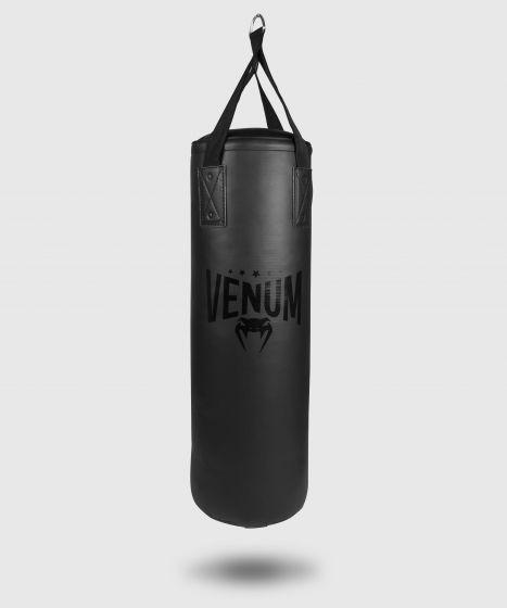 Saco de boxeo Venum Origins - Negro/Negro (gancho incluido)
