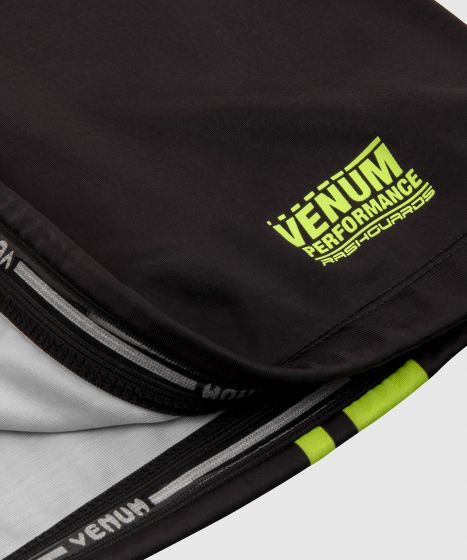 Rashguard Venum Logos - Manches courtes - Noir/Jaune Fluo
