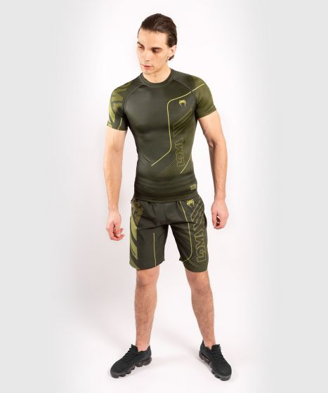 Venum Loma Commando Short Sleeve Rashguard - Khaki