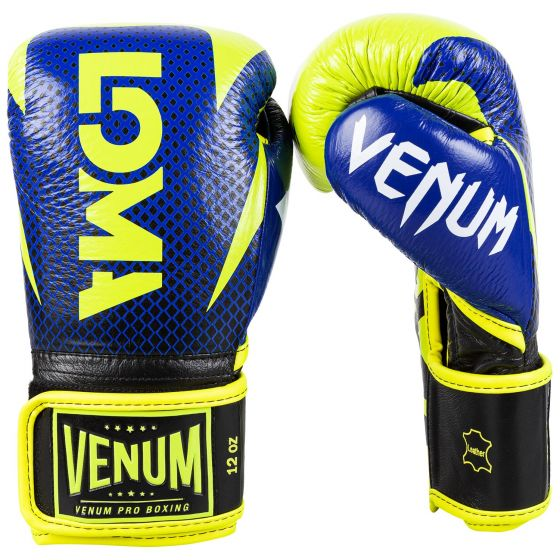 Venum Hammer Pro Boxing Gloves Loma Edition- Velcro - Blue/Yellow
