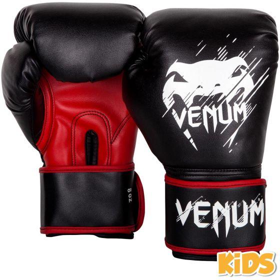 Venum Contender Kids Boxing Gloves - Black/Red