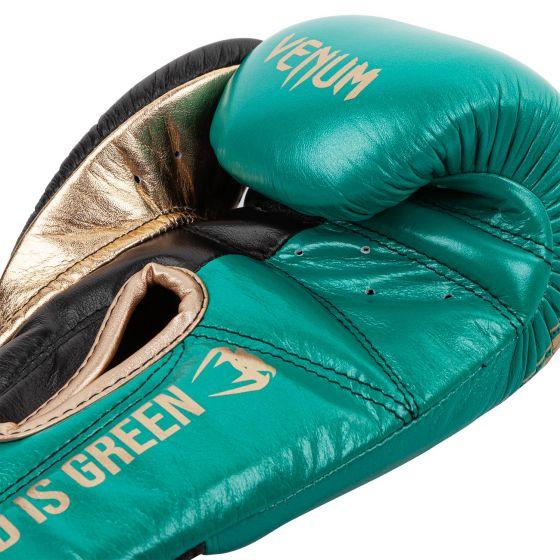 Guantes de Boxeo profesional Venum Giant 2.0 - Edición limitada WBC - Velcro - Verde metálico/Dorado