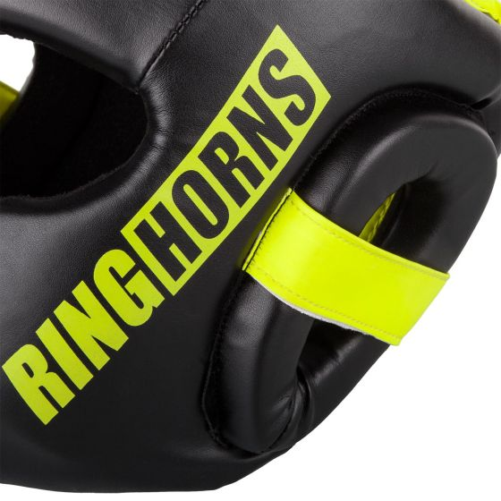 Ringhorns Charger Hoofddeksel- Zwart/Neo Geel