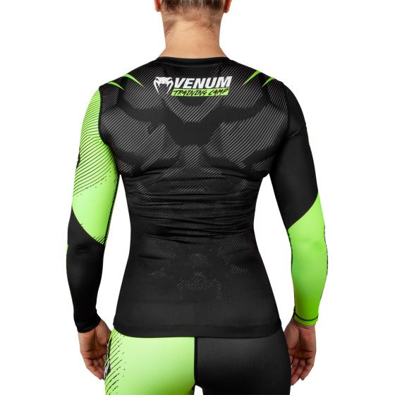 Venum Training Camp 2.0 Rashguard - Long Sleeves - Black/Neo Yellow - For Women