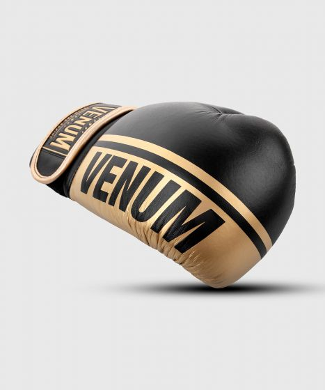 Gants de boxe pro Venum Shield - Velcro - Noir/Or