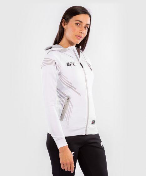 Felpa Con Cappuccio Walkout Donna UFC Venum Authentic Fight Night - Bianco