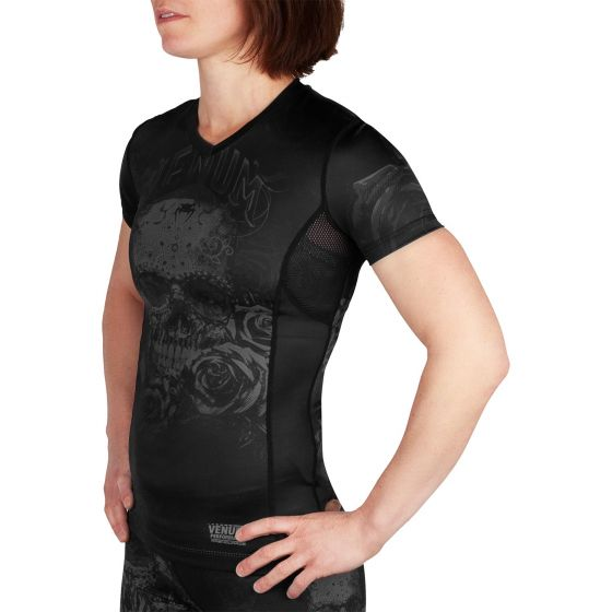 Venum Santa Muerte 3.0 Rashguard - Short Sleeves - For Women - Black/Black