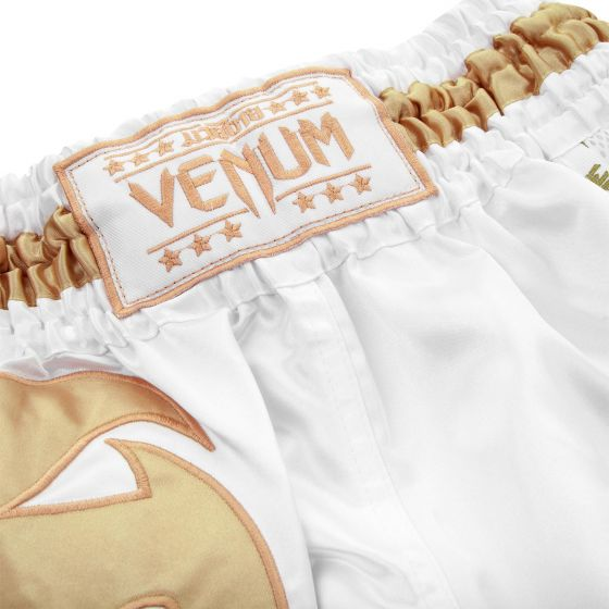 Venum Giant Muay Thai Shorts - White/Gold