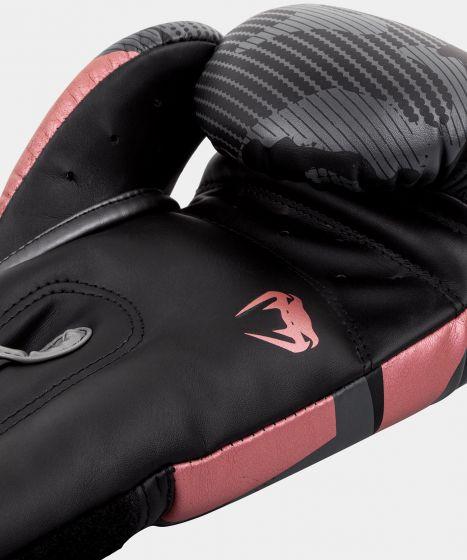 Guantes de boxeo Venum Elite - Negro/Oro rosa