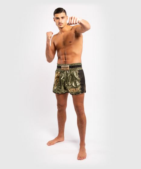 Venum Giant Foil Muay Thai Shorts - Khaki/Gold