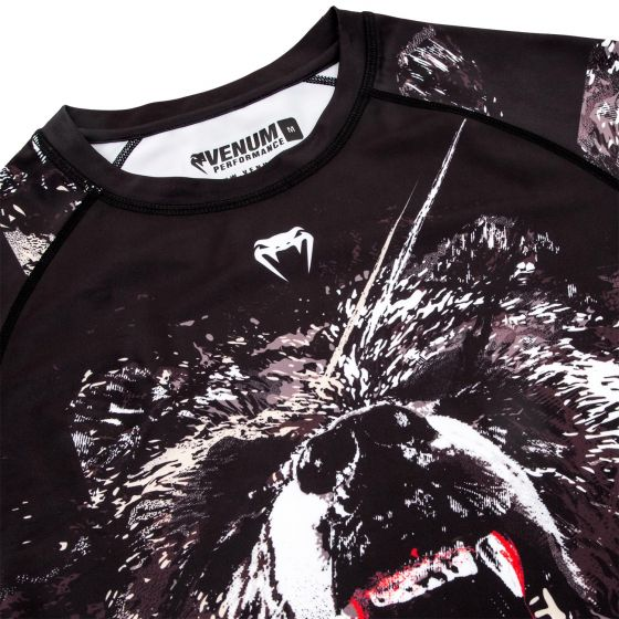 Rashguard Venum Grizzly  - Mangas Largas - Negro/Blanco