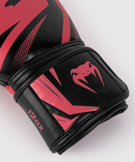 Guantes de Boxeo Venum Challenger 3.0 - Negro/Coral