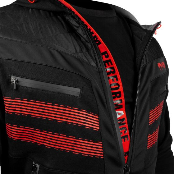Sudadera con capucha Venum Laser 2.0  - Negro/Rojo