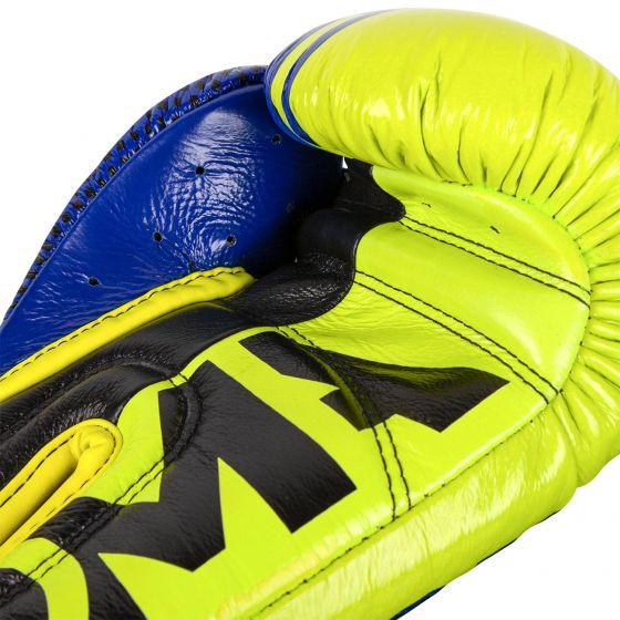 Guantes de boxeo profesional Venum Shield Edición Loma - Velcro - Azul/amarillo