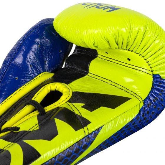 Venum Hammer Pro Boxing Gloves Loma Edition - With Laces - Blue/Yellow