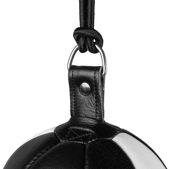 Venum Hurricane Ovaler Boxsack mit Doppelaufhängung - Schwarz/Weiß