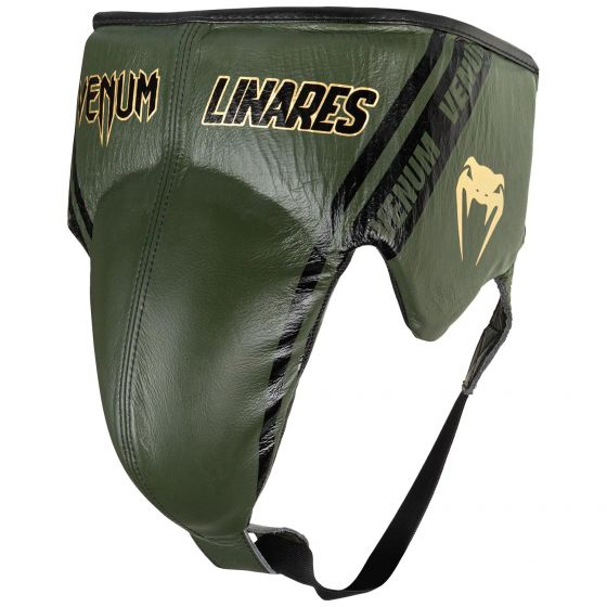 Venum Pro Boxing Protective Cup Linares Edition - With Laces - Khaki/Black/Gold