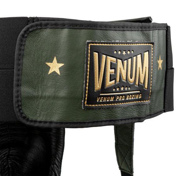 Venum Pro Box-Tiefschutz Linares Edition - Mit Klettverschluss - Khaki/Schwarz/Gold