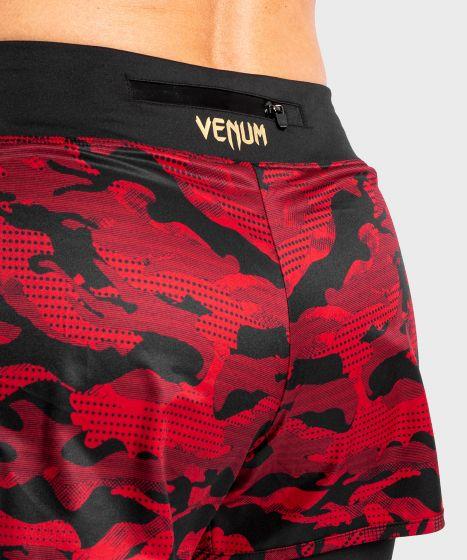 Shorts a compressione ibrida Venum Defender 2.0 - Nero/Rosso