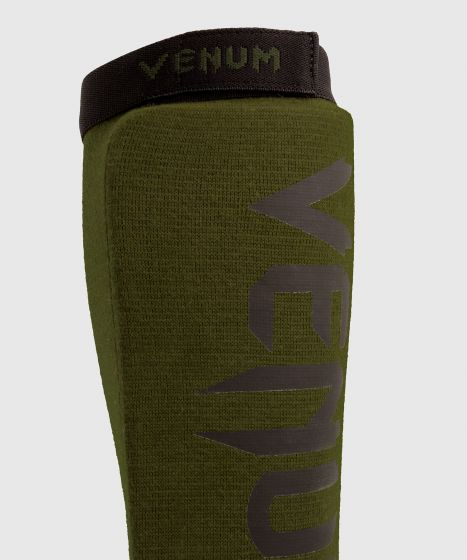 Venum Kontact Shin Guards - Khaki/Black