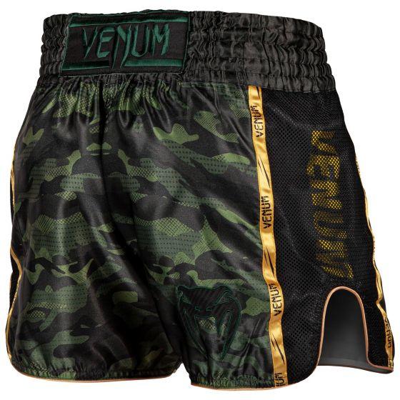 Pantaloncini da Muay Thai Venum Full Cam - Camo foresta/Nero