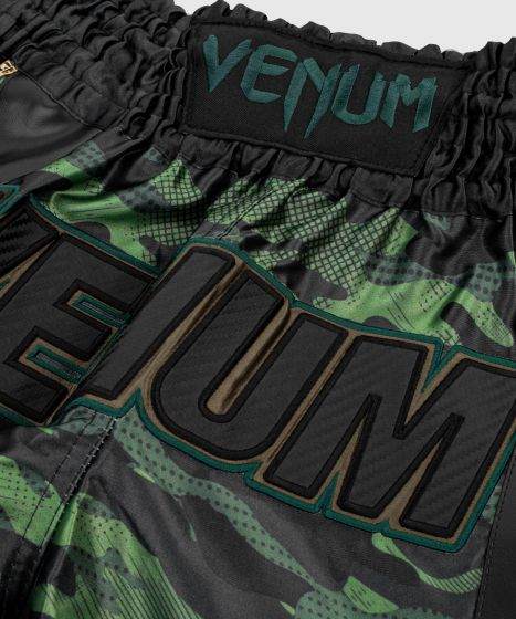 Pantalones cortos de Muay Thai Venum Full Cam - Camo Bosque/Negro