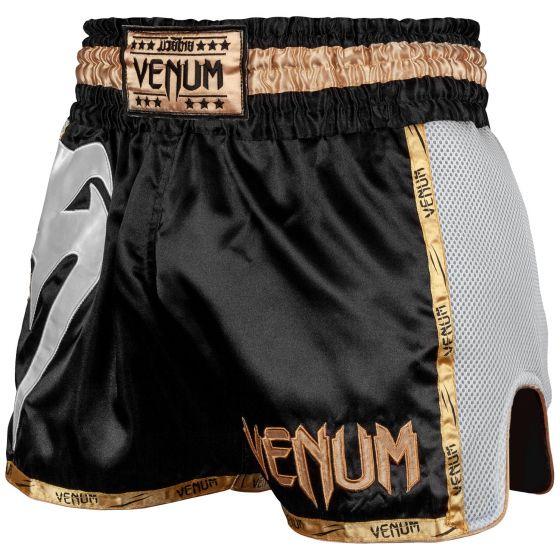 Muay Thai Shorts Venum Giant - Schwarz/Weiß/Gold