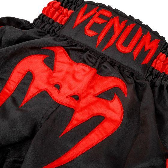 Pantaloncini Venum da Muay Thai Bambino - Neri/Rossi