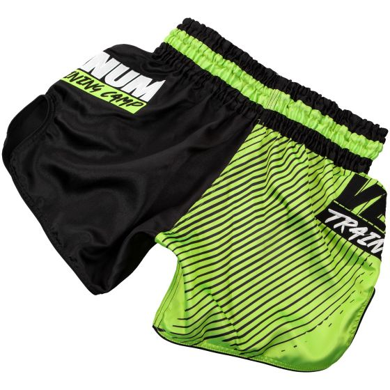 Short de Muay Thai Venum Training Camp - Noir/Jaune Fluo