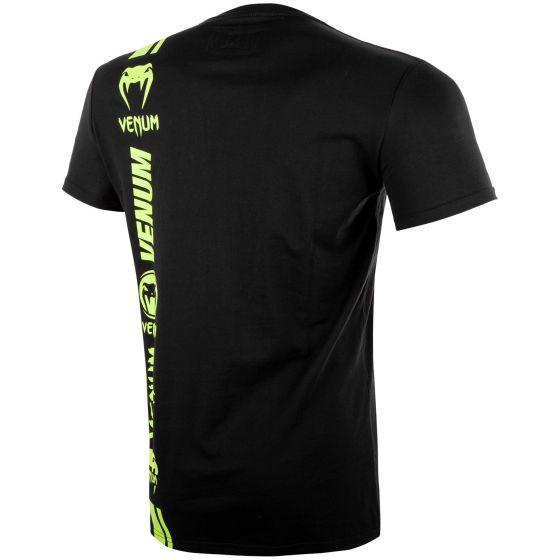 Camiseta Venum Logos - Negro/Amarillo Fluo