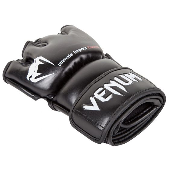 Venum Impact MMA Gloves - Skintex Leather - Black