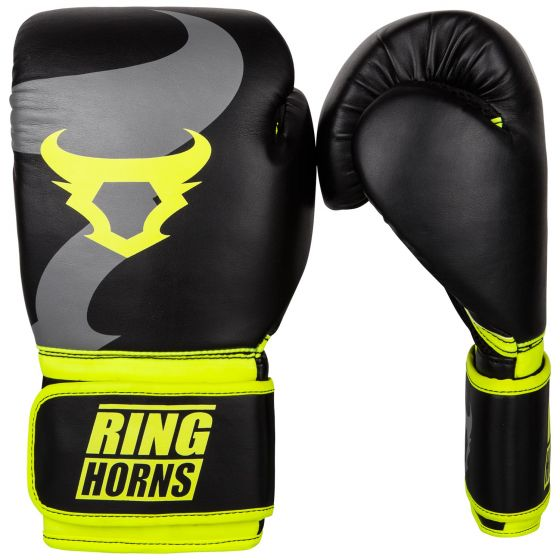 Ringhorns Charger Boxing Gloves - Black/Neo Yellow