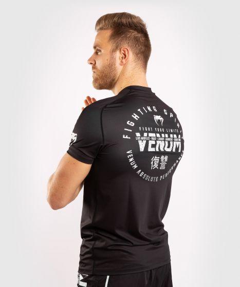 Venum Signature Dry Tech T-shirt - Zwart/Wit