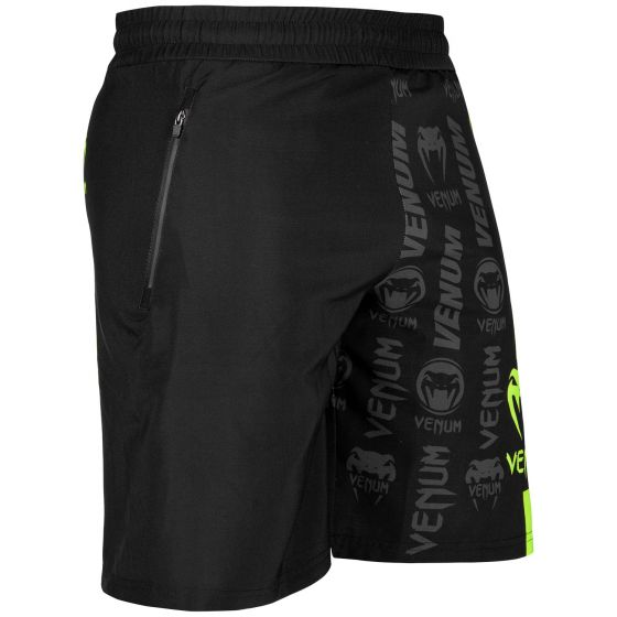 Venum Logos Training Shorts - Zwart/Neongeel