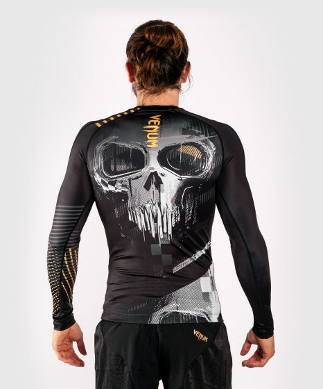 Venum Skull Rashguard - lange Ärmel - Schwarz