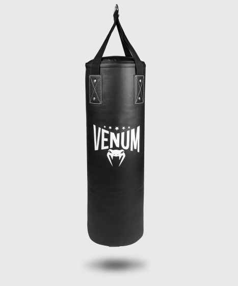 Venum Origins Punching Bag - Black/White (ceiling mount included)