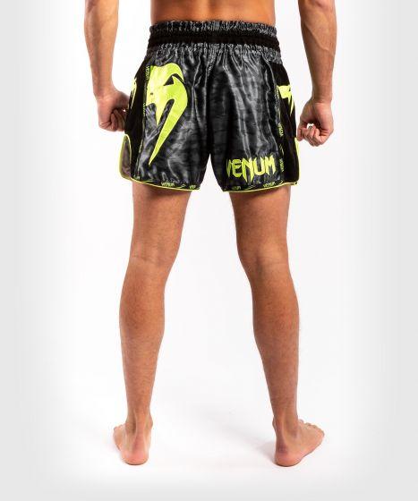 Pantalones de Muay Thai Venum Giant Camo - Negro/Amarillo