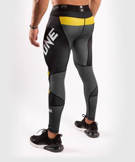 Pantalon de compression Venum ONE FC Impact - Gris/Jaune