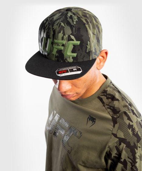 UFC Venum Authentic Fight Week T-shirt met lange mouwen voor heren - Kaki
