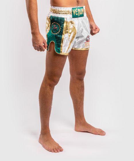 Venum WBC Muay Thai Shorts  - White/Green
