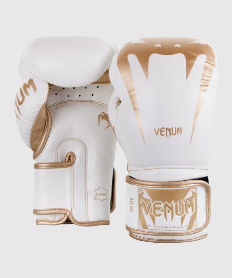 Gants de boxe Venum Giant 3.0 - Cuir Nappa - Blanc/Doré