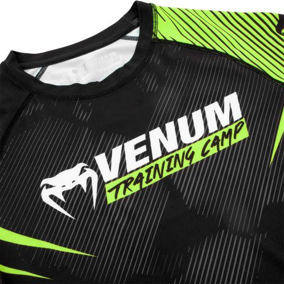 Venum Training Camp 2.0 Rashguard Kurzarm - Schwarz/ Neongelb