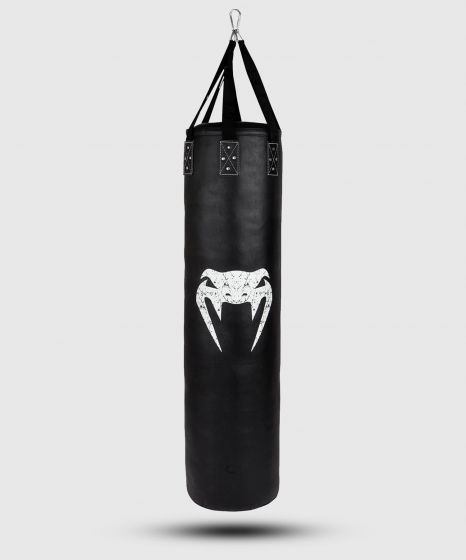 Venum Challenger Heavy bag + Ceiling Hook - Black/White - Filled - 150cm