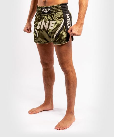 Short de Muay Thai Venum ONE FC Impact - Noir/Kaki