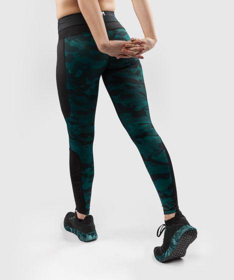 Leggings Venum Defender - para mujer - Negro/Verde