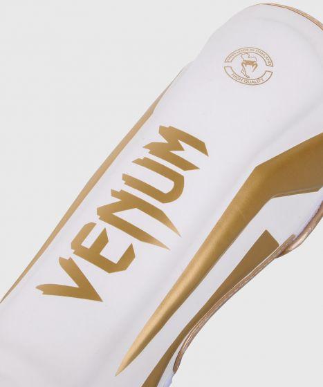 Protège-tibias Venum Elite - Blanc/Doré